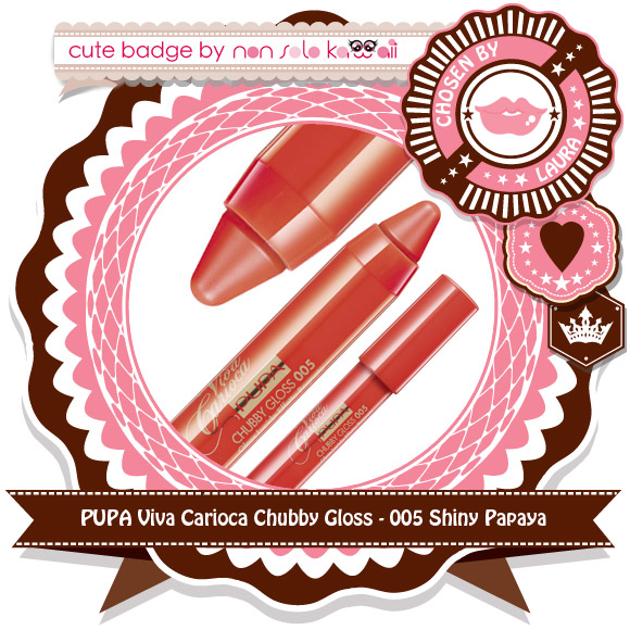 non solo Kawaii - Pupa Chubby Gloss, 005 Shiny Papaya