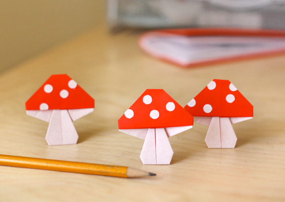 Focus on: Mushrooms & DIY, Funghi, Funghetti e Fai da te - Origami
