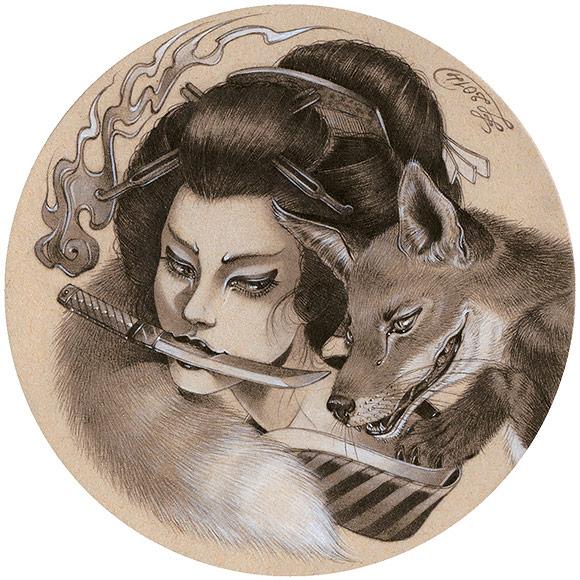 Zoe Lacchei – Kitsune's Vengeance | The Coaster Show 2014, La Luz De Jesus Gallery