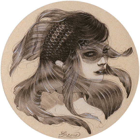 Zoe Lacchei – The Mermaid | The Coaster Show 2014, La Luz De Jesus Gallery