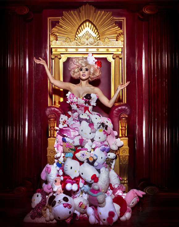 Lady Gaga, Photo by Markus Klinko and Indrani, Dress styled by GK Reid - Hello! Exploring the Supercute World of Hello Kitty, 40th anniversary - LA's Japanese American National Museum