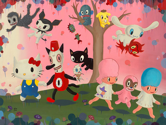 Gary Baseman - Hello! Exploring the Supercute World of Hello Kitty, 40th anniversary - LA's Japanese American National Museum