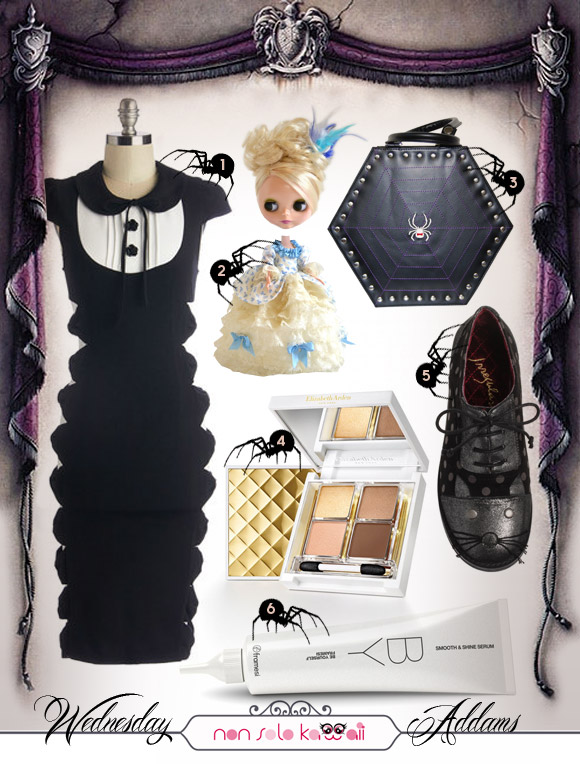 non solo Kawaii - Kawaii Look for Halloween: Wednesday Addams LOOK 1