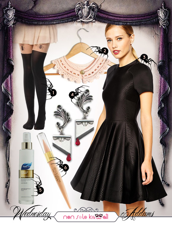 non solo Kawaii - Kawaii Look for Halloween: Wednesday Addams LOOK 2