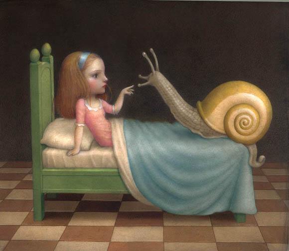 Nicoletta Ceccoli, Night Visitor - Sweet & Low Exhibition