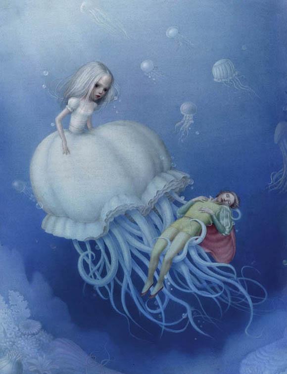 Nicoletta Ceccoli, Lady Blue Bell - Sweet & Low Exhibition