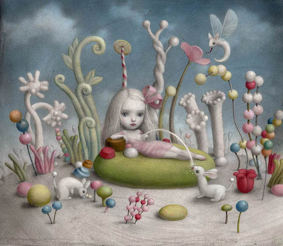 Nicoletta Ceccoli, The Land of Milk and Honey - Sweet & Low Exhibition