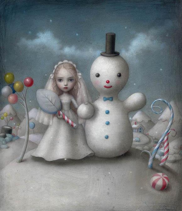 Nicoletta Ceccoli, The Snow Bride - Sweet & Low Exhibition