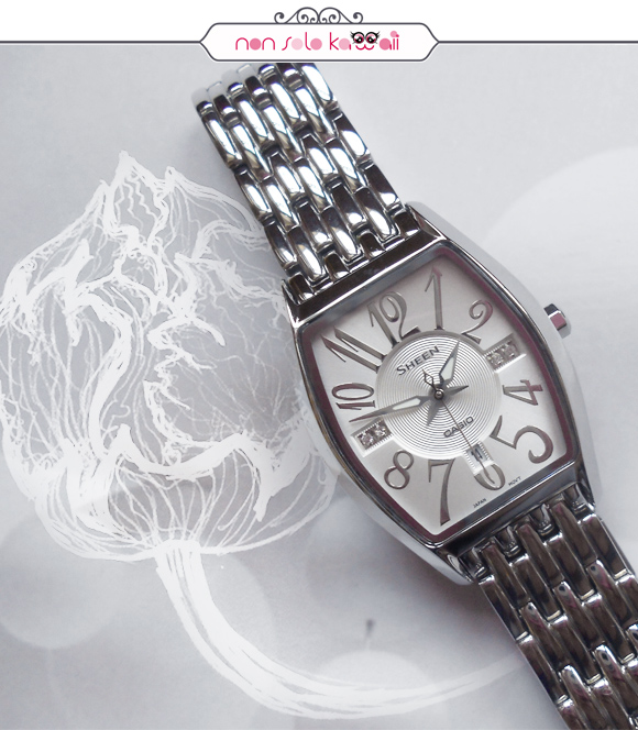 non solo Kawaii, photo by Angela Chiappa, illustrations by Laura Castellanza - Sheen by Casio SHE-4027D-7A (white)