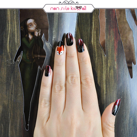 non solo Kawaii - Nail Arts for Grazia.it, Foxy's Hole