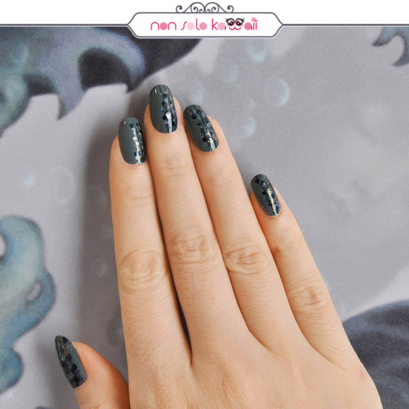 non solo Kawaii - Nail Arts for Grazia.it, Green Storm