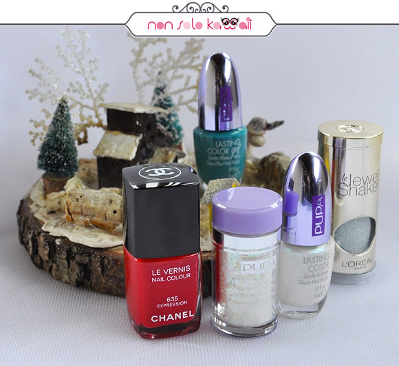non solo Kawaii - Nail Arts for Grazia.it, Winter Crystals