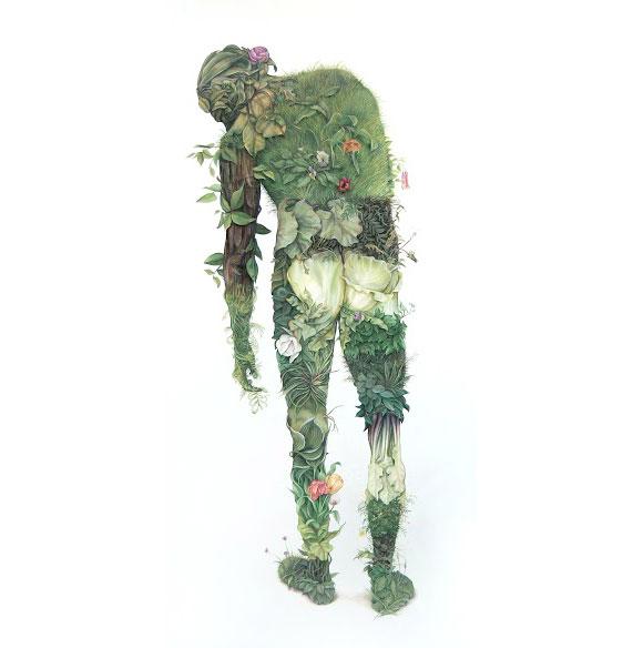 Zachary Logan, Green Man   Incantation - Roq La Rue Gallery