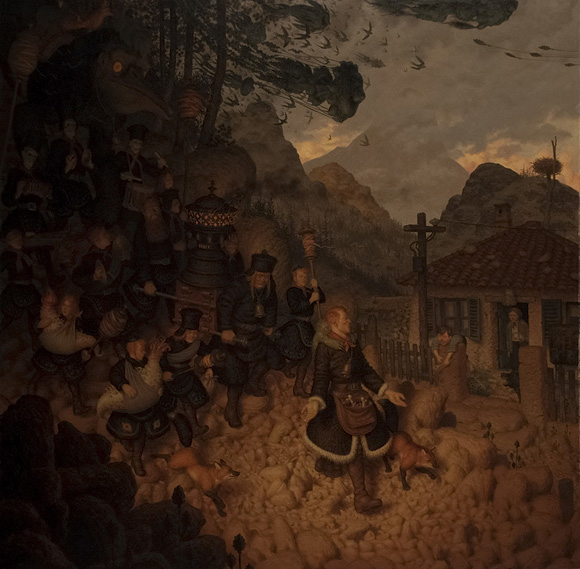 Peter Ferguson, The People From Happy Mountain   Incantation - Roq La Rue Gallery