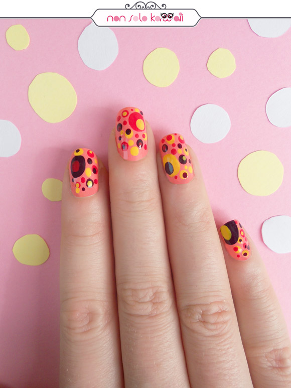 non solo Kawaii - Nail Art & Photo: Laura Castellanza | Nail Polishes CE85 Juice Melon, CE84 Jellow Submarine, CE40 Oh My Red, CE39 Southern Light