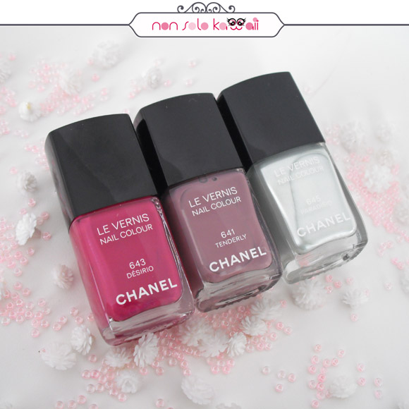 non solo Kawaii - Chanel Rêverie Parisienne | Le Vernis Nail Colour - 641 Tenderly, 643 Désirio e 645 Paradisio