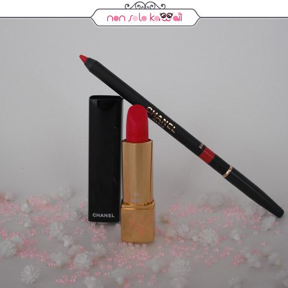 non solo Kawaii - Chanel Rêverie Parisienne | Chanel Rouge Allure Velvet - 49 La Pétillante, Chanel Le Crayon Lèvres - 92 Capucine