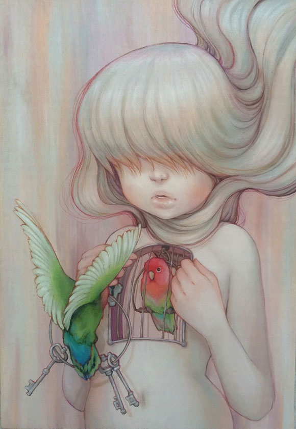 Camilla d'Errico, Caged - Beauty in the Breakdown, Thinkspace Gallery