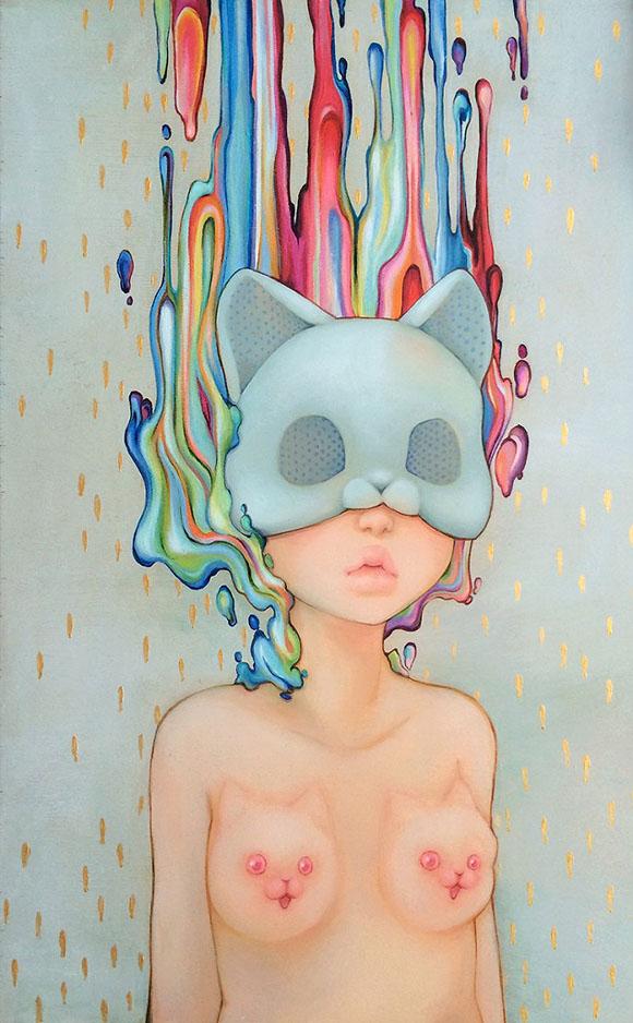 Camilla d'Errico, Kitty Titties - Beauty in the Breakdown, Thinkspace Gallery