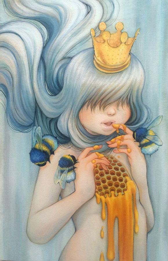 Camilla d'Errico, Queen Beeatrice - Beauty in the Breakdown, Thinkspace Gallery