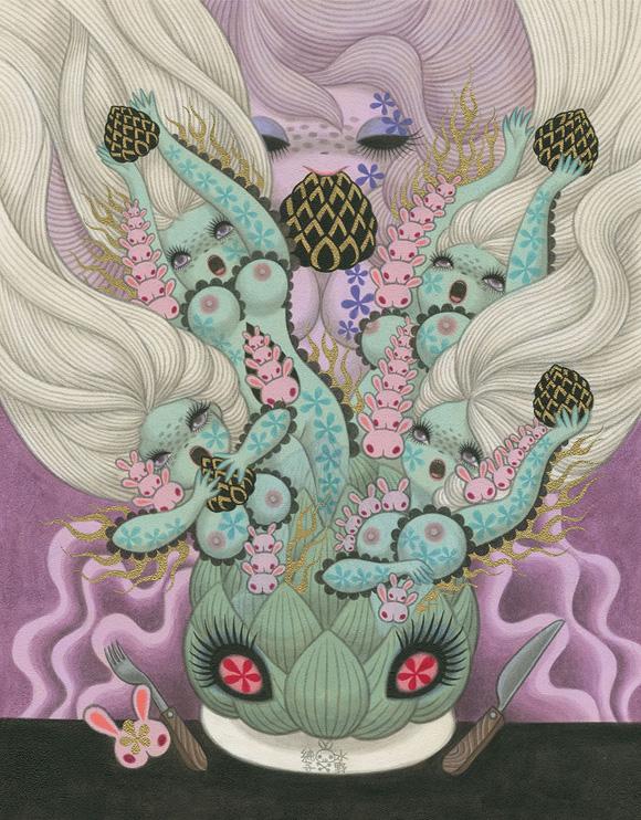 Junko Mizuno, Artichoke - Ambrosial Affair, Narwhal Contemporary gallery