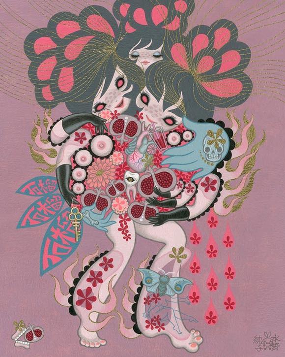 Junko Mizuno, Pomegranate - Ambrosial Affair, Narwhal Contemporary gallery