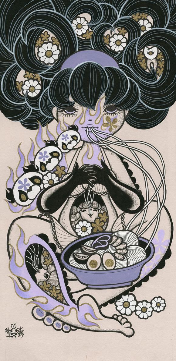 Junko Mizuno, Noodles - Ambrosial Affair, Narwhal Contemporary gallery