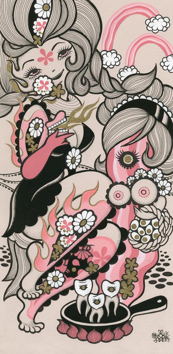 Junko Mizuno, Bacon - Ambrosial Affair, Narwhal Contemporary gallery