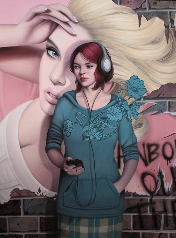 Sarah Joncas, Anybody Out There - Beauty in the Breakdown, Thinkspace Gallery