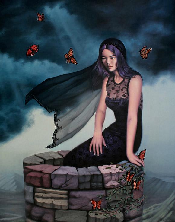 Sarah Joncas, The Wishing Well - Beauty in the Breakdown, Thinkspace Gallery