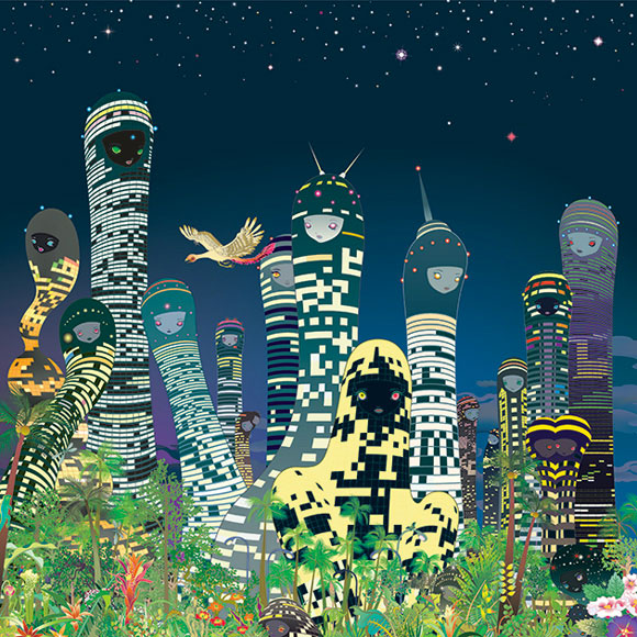 Chiho Aoshima, City Glow - Rebirth of the World at Seattle Art Museum