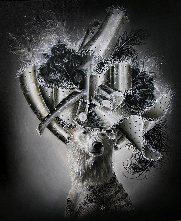 Marc le Rest, Polar Bear (Noir and Blanc) | The Mad Hatter, Modern Eden Gallery