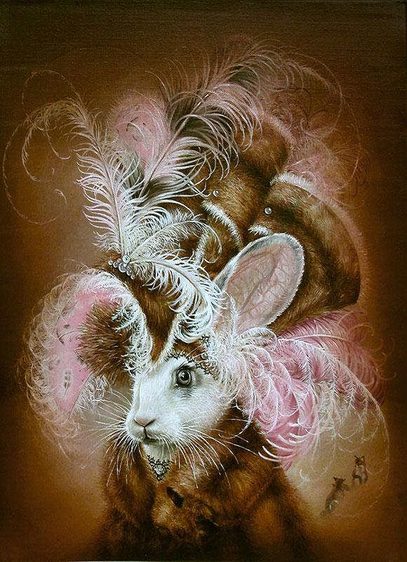 Marc le Rest, Rabbit Wearing Fox | The Mad Hatter, Modern Eden Gallery