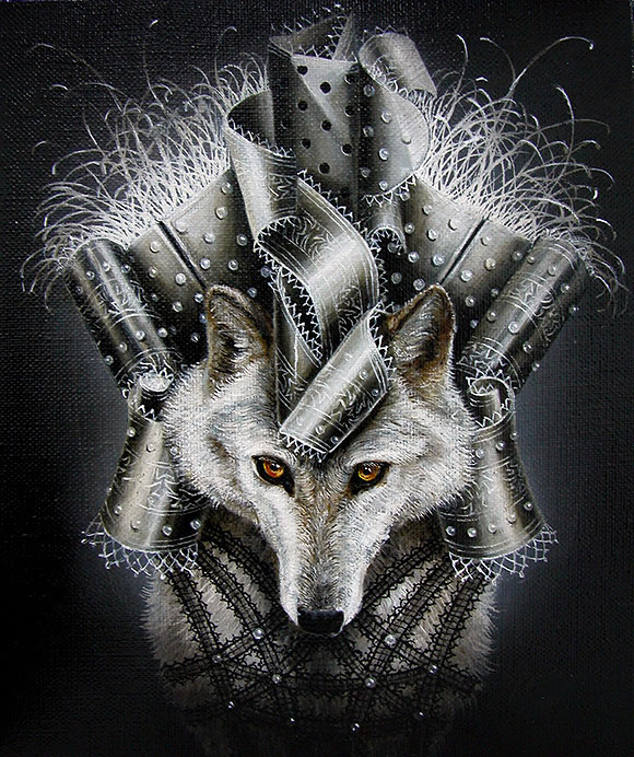 Marc le Rest, White Wolf (Noir and Blanc) | The Mad Hatter, Modern Eden Gallery