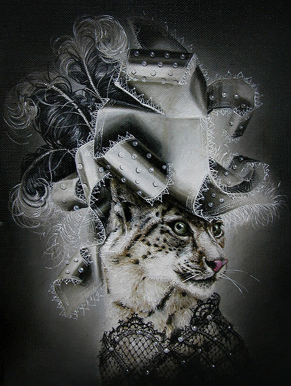 Marc le Rest, Snow Leopard (Noir et Blanc) | The Mad Hatter, Modern Eden Gallery