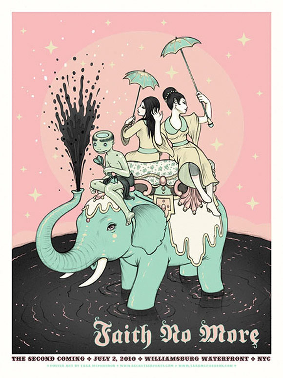 Tara McPherson - Rock Poster: Faith no More | I Know It by Heart, Dorothy Circus Gallery