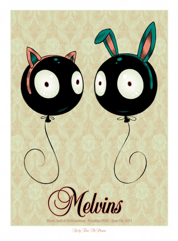 Tara McPherson - Rock Poster: Melvins | I Know It by Heart, Dorothy Circus Gallery