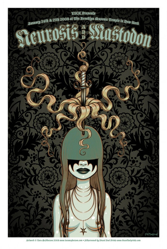 Tara McPherson - Rock Poster: Mastodon | I Know It by Heart, Dorothy Circus Gallery