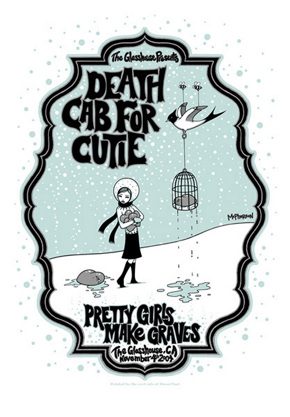 Tara McPherson - Rock Poster: Death Cab for Cutie | I Know It by Heart, Dorothy Circus Gallery