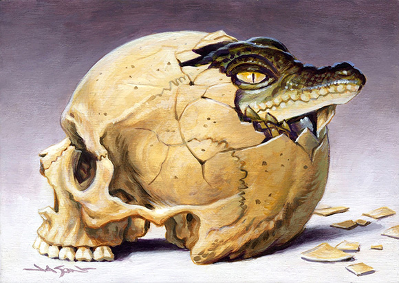 Skull Egg Alligator, Jason Edmiston | Tiny Trifecta, Cotton Candy Machine