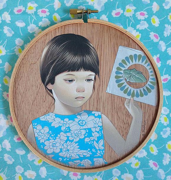 Girl and Moth, Sean Mahan   Tiny Trifecta, Cotton Candy Machine