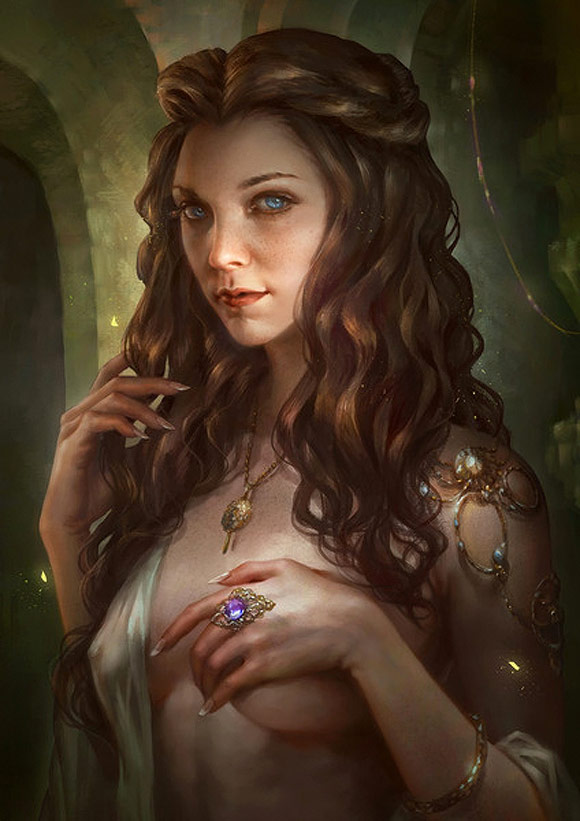 Margaery Tyrell by Livia Prima - Where the Wildlings at | Glitch Singapore Urban Art Gallery