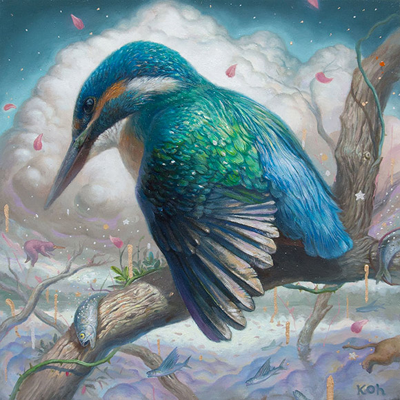 Kisung Koh, King Fisher - 3rd Annual Art Collector Starter Kit, Corey Helford Gallery