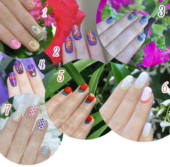 Poll, nail arts by non solo Kawaii for Grazia.it