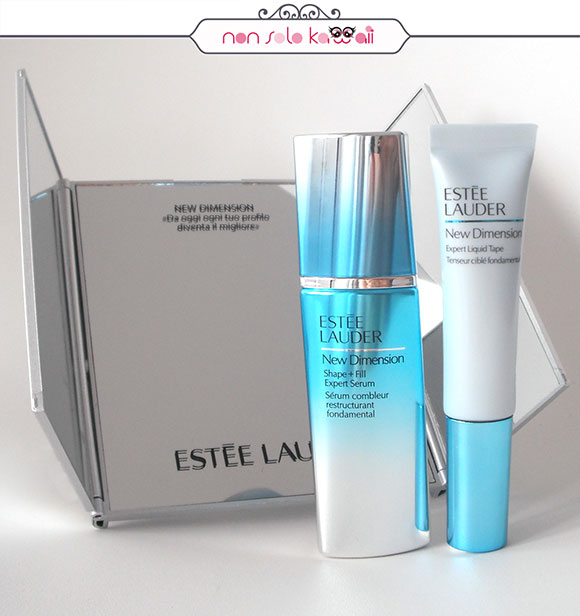 non solo Kawaii - Estée Lauder New Dimension Shape + Fill Expert Serum & Expert Liquid Tape