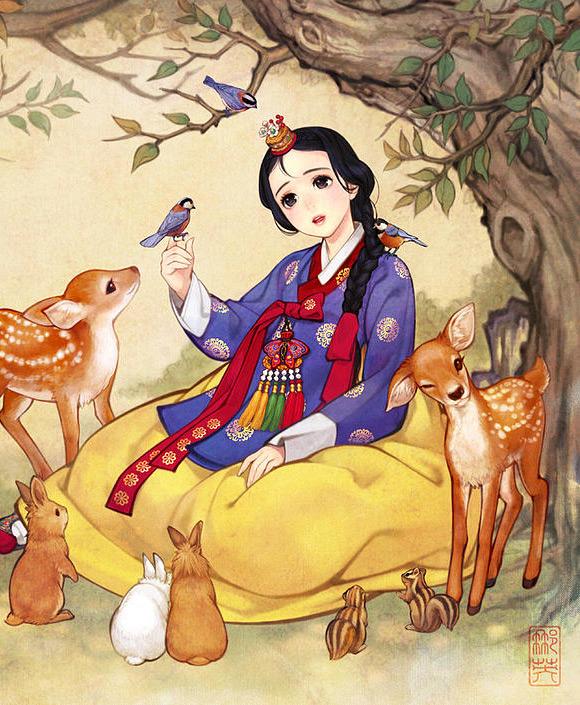 Le Principesse Disney In Stile Manhwa By Nayoung Wooh Disney