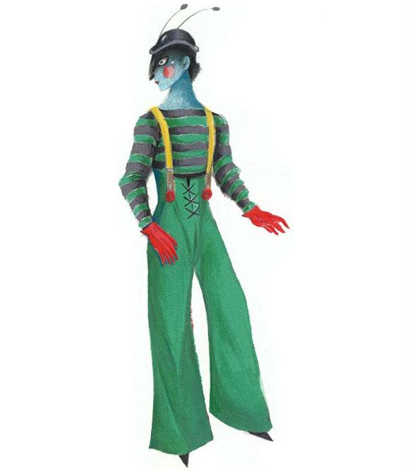 Pinocchio Il Grande Musical, costume da grillo parlante