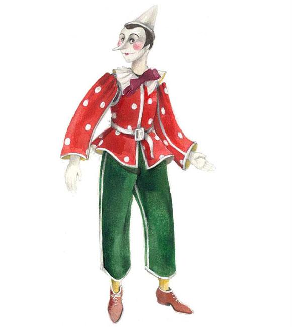Pinocchio Il Grande Musical, costume da pinocchio