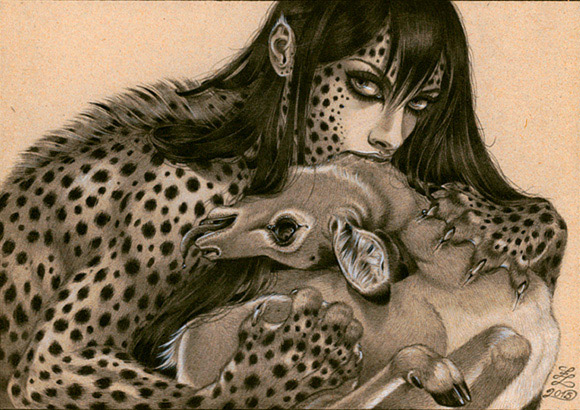 Zoe Lacchei, Hungry Beast | Carnivorous Beauties, La Luz de Jesus Gallery