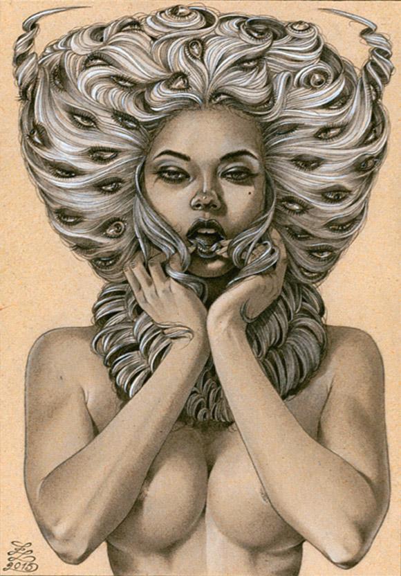 Zoe Lacchei, Demon of Lust | Carnivorous Beauties, La Luz de Jesus Gallery